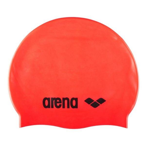 Arena Classic Silicone Swim Cap - Fluo Red