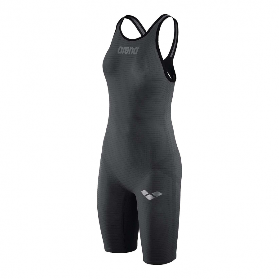 Arena Carbon Pro Open Back Short Leg Suit - Dark Grey Side 1