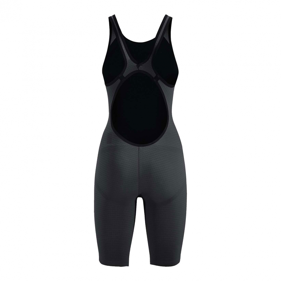 Arena Carbon Pro Open Back Short Leg Suit - Dark Grey Back