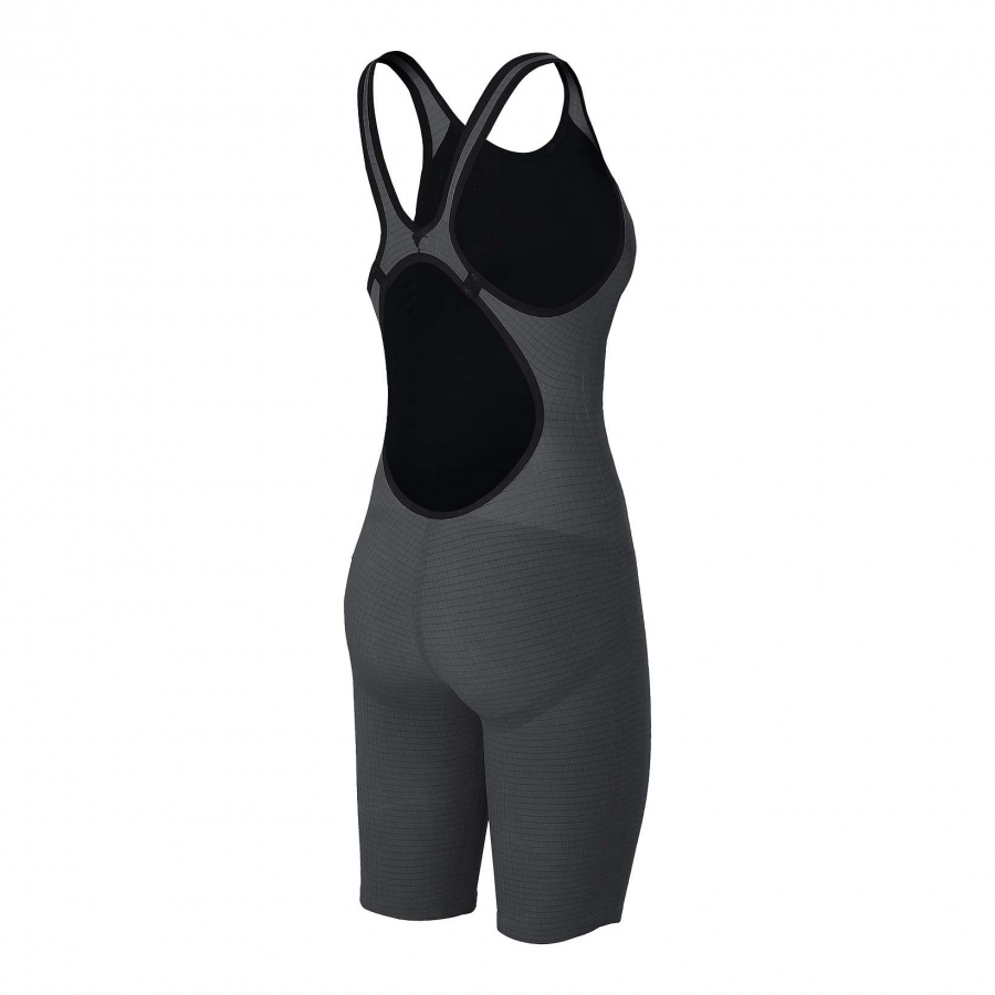 Arena Carbon Pro Open Back Short Leg Suit - Dark Grey Side 2