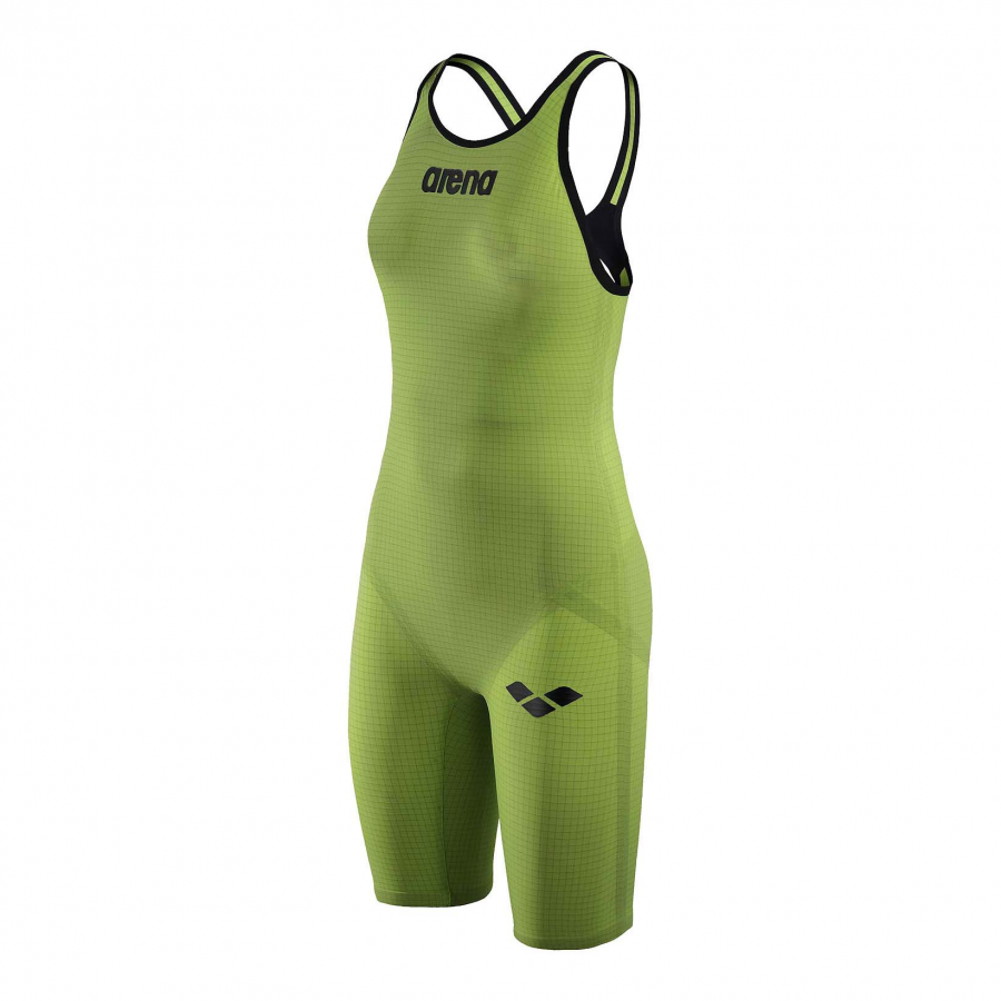 Arena Carbon Pro Open Back Short Leg Suit - Acid Green SIDE 1