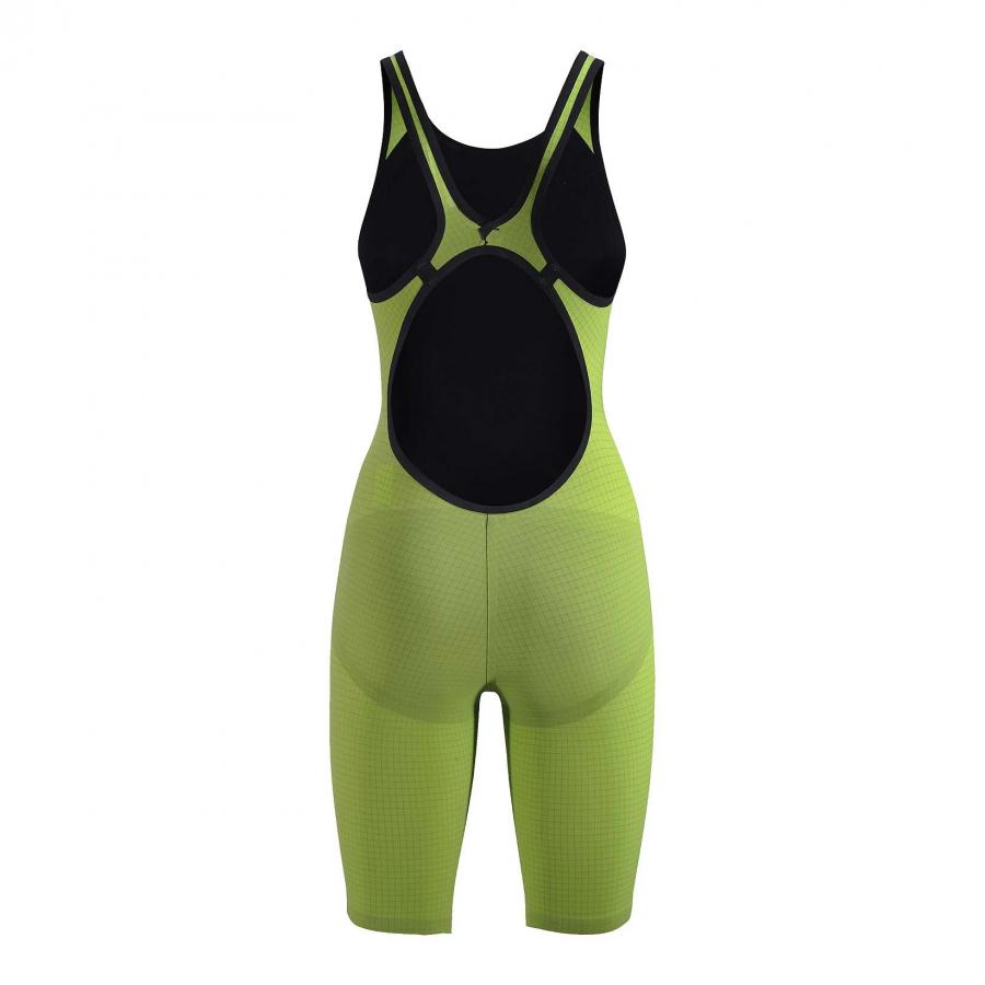 Arena Carbon Pro Open Back Short Leg Suit - Acid Green BACK