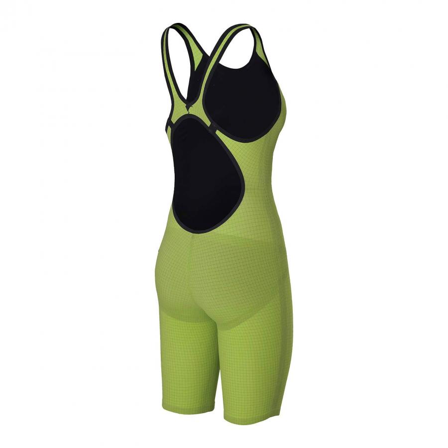 Arena Carbon Pro Open Back Short Leg Suit - Acid Green SIDE 2