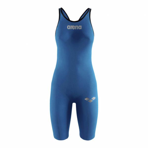 Arena Carbon Pro Open Back Short Leg Suit - Royal Blue FRONT