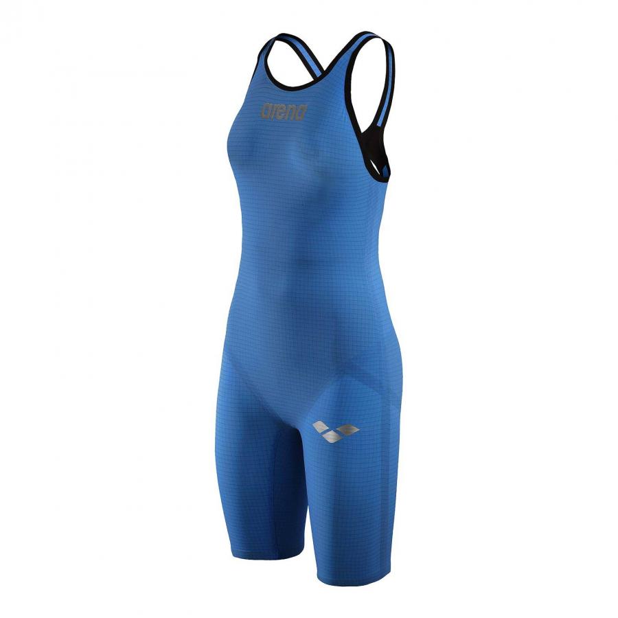 Arena Carbon Pro Open Back Short Leg Suit - Royal Blue SIDE 1