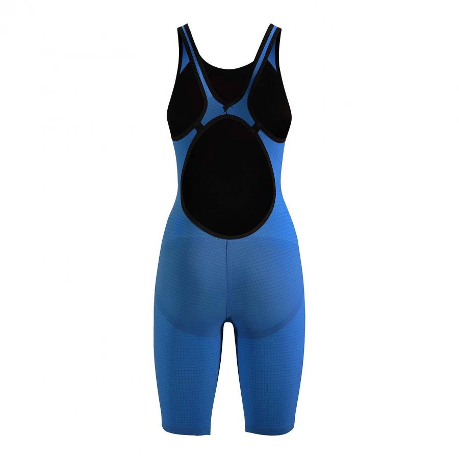 Arena Carbon Pro Open Back Short Leg Suit - Royal Blue BACK