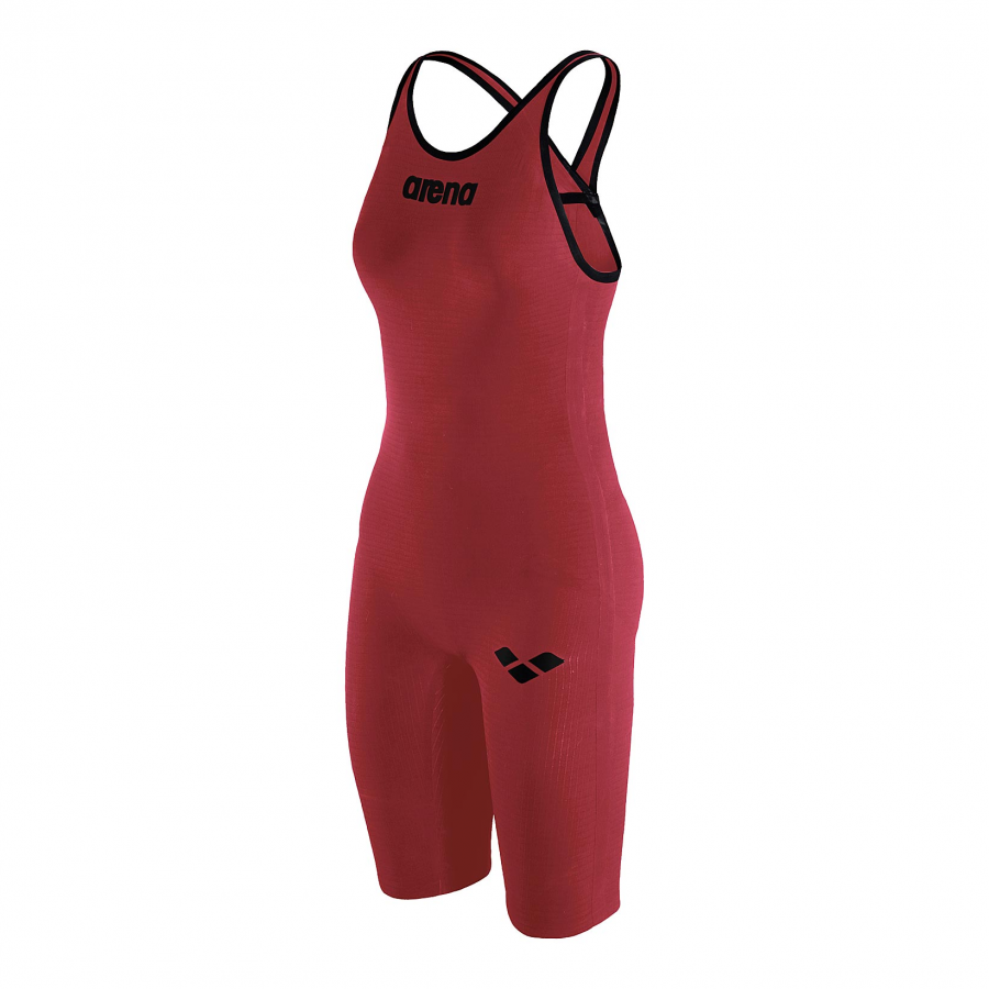 Arena Carbon Pro Closed Back Short Leg Suit - Red SIDE 1