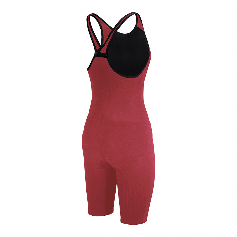 Arena Carbon Pro Closed Back Short Leg Suit - Red SIDE 2