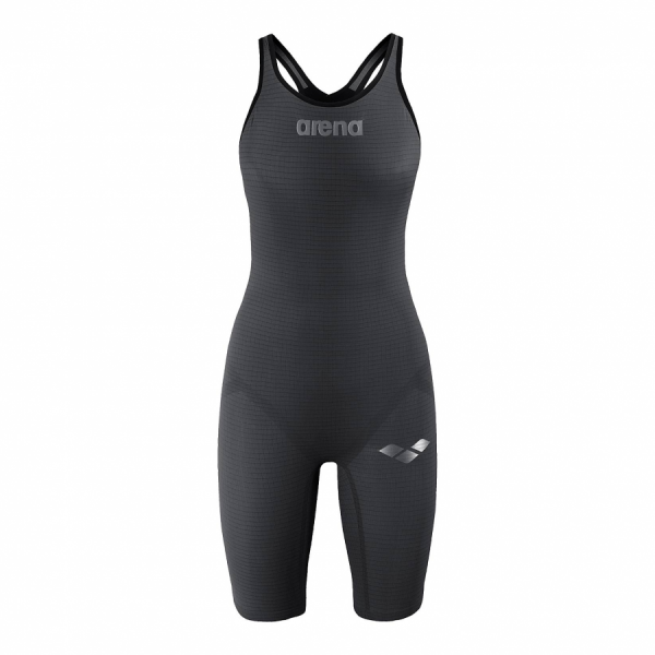 Arena Carbon Pro Closed Back Short Leg Suit - Dark Grey FRONT