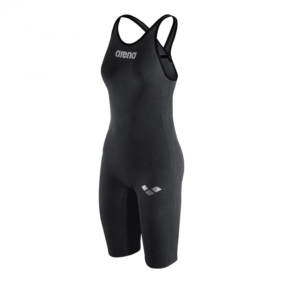 Arena Carbon Pro Closed Back Short Leg Suit - Dark Grey SIDE 1