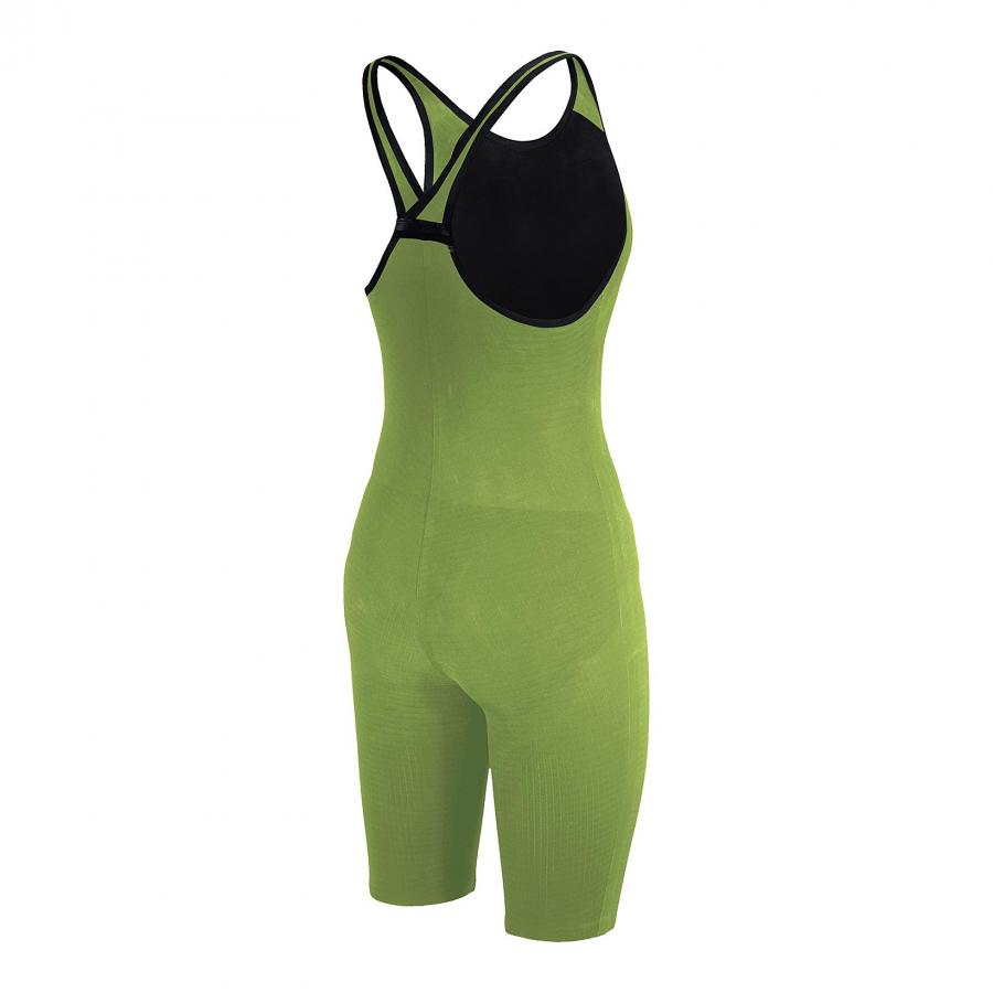 Arena Carbon Pro Closed Back Short Leg Suit - Acid Green SIDE 2