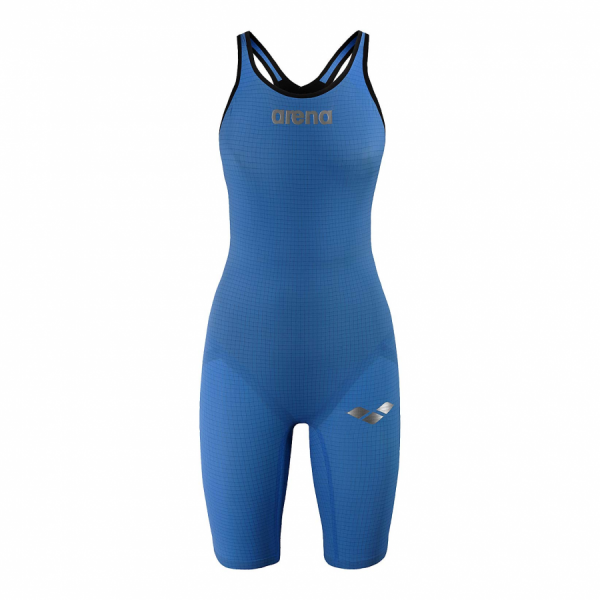 Arena Carbon Pro Closed Back Short Leg Suit - Royal Blue FRONT