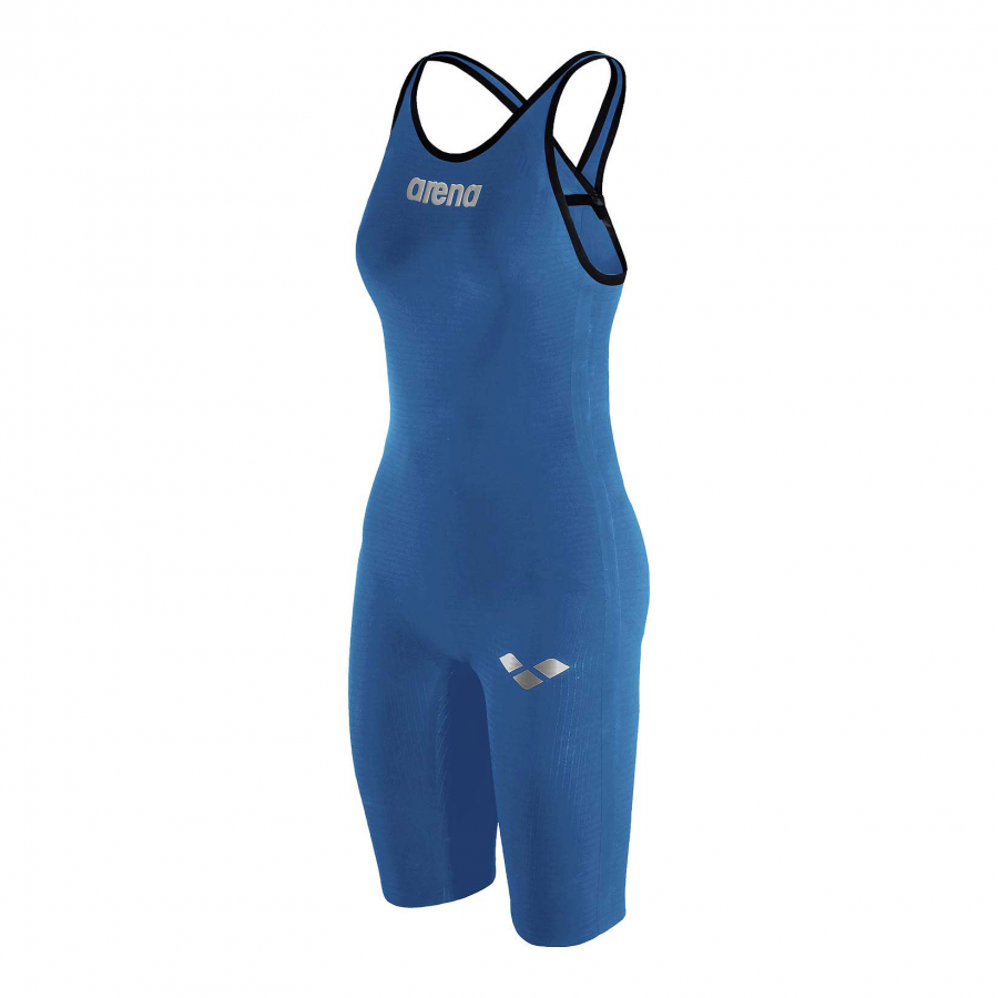 Arena Carbon Pro Closed Back Short Leg Suit - Royal Blue SIDE 1