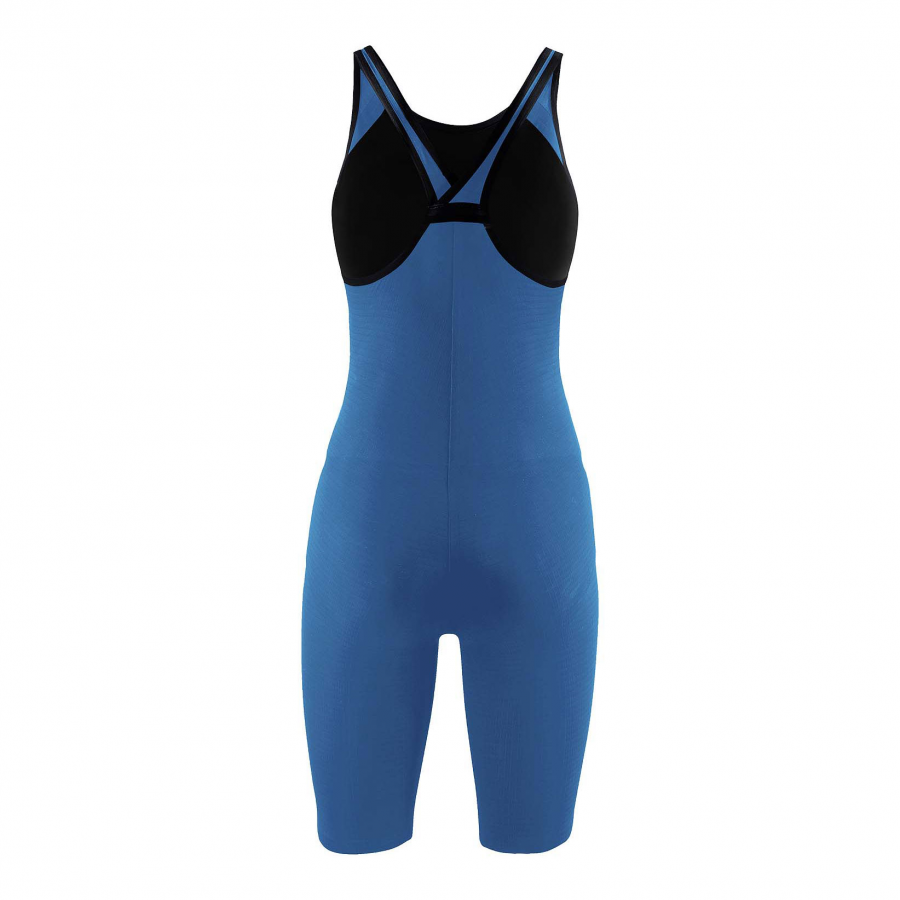 Arena Carbon Pro Closed Back Short Leg Suit - Royal Blue BACK