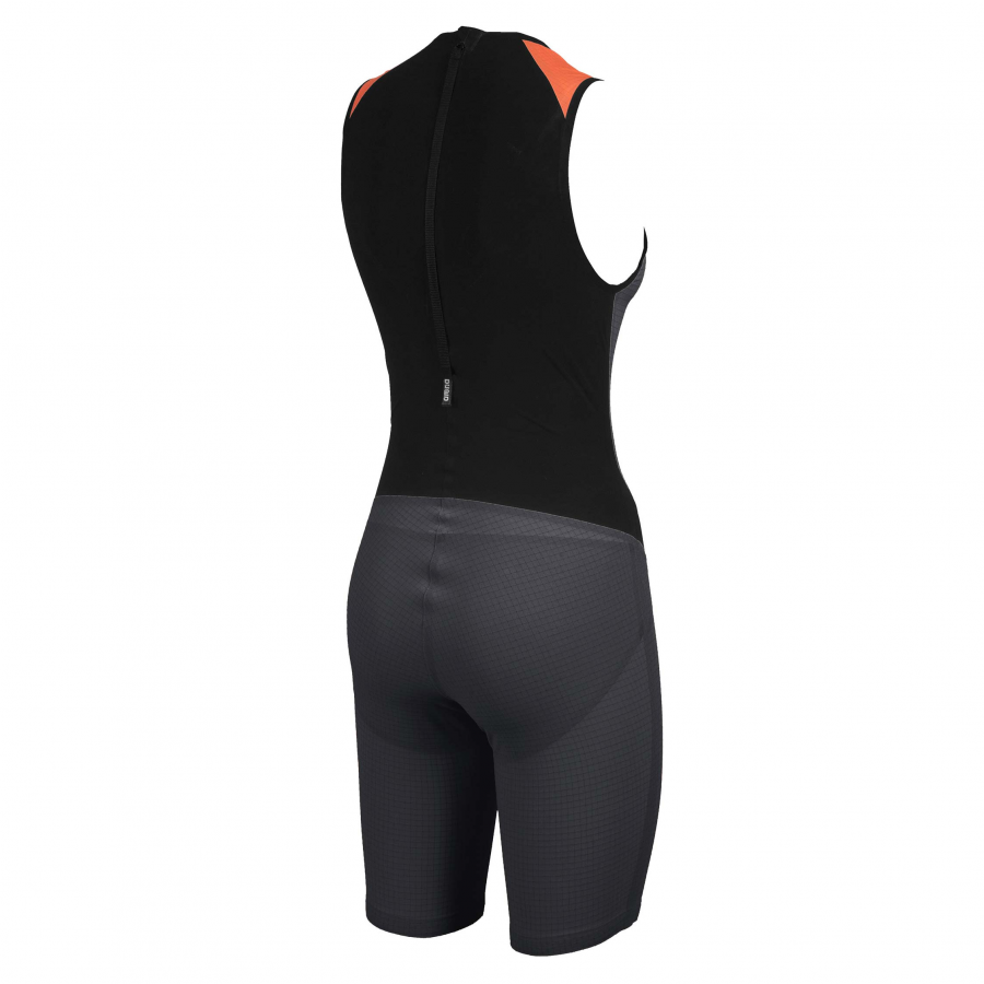 Womens Carbon Pro Trisuit with back zip in black