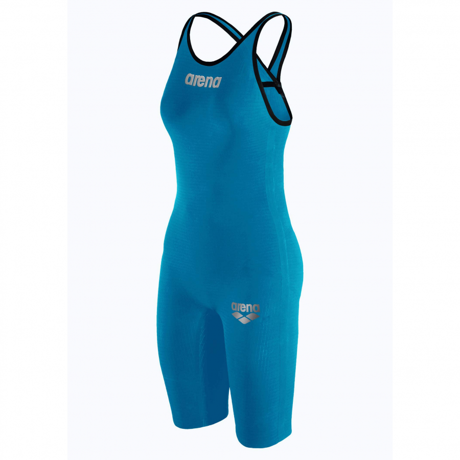 Arena Carbon Pro 2 Closed Back Short Leg Suit - Cyan Blue