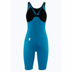 Arena Carbon Pro 2 Closed Back Short Leg Suit - Cyan Blue