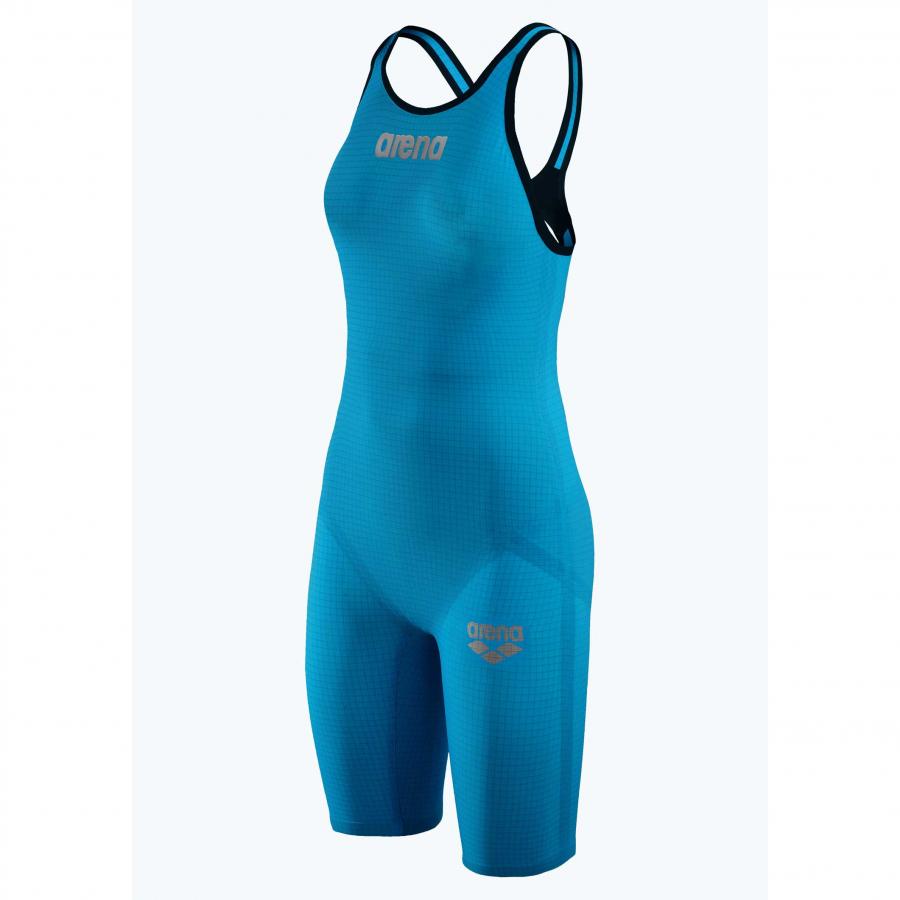 Arena Carbon Pro 2 Open Back Short Leg Suit - Cyan Blue