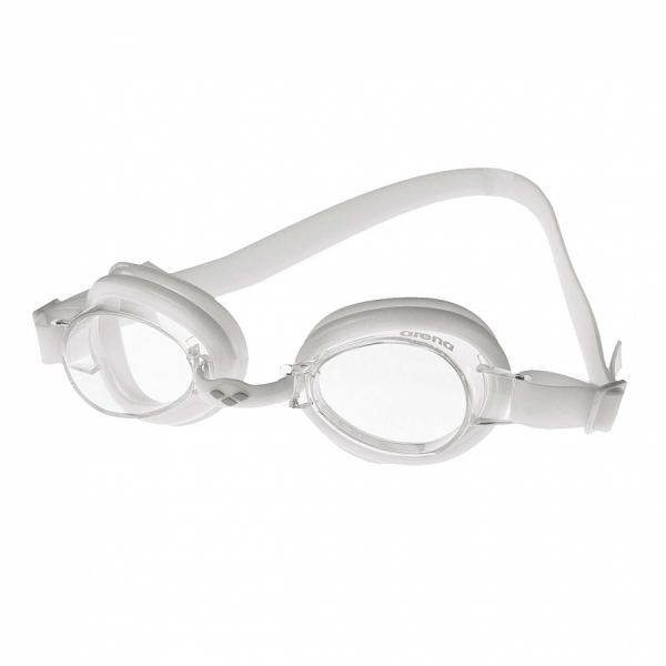 Arena Bubble 2 Junior  Swimming Goggles - White with Clear Lens