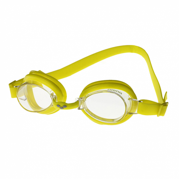 Arena Bubble 2 Junior  Swimming Goggles - Yellow with Clear Lens