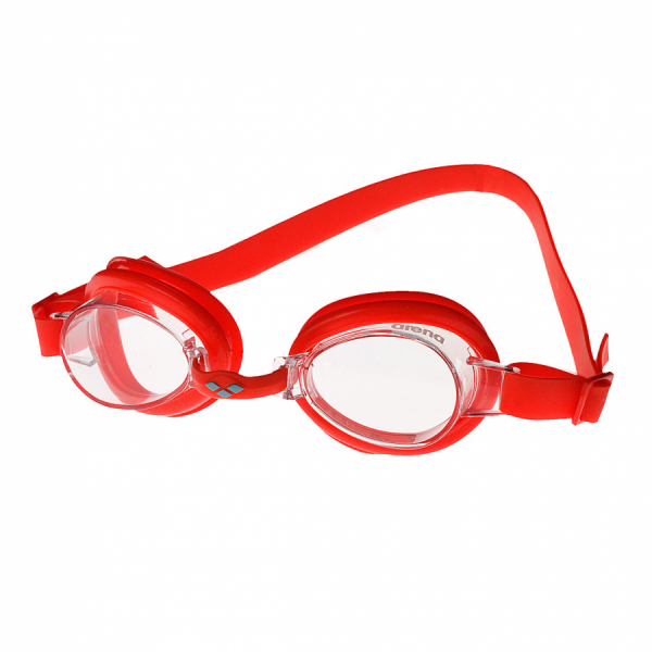 Arena Bubble 2 Junior  Swimming Goggles - Red with Clear Lens