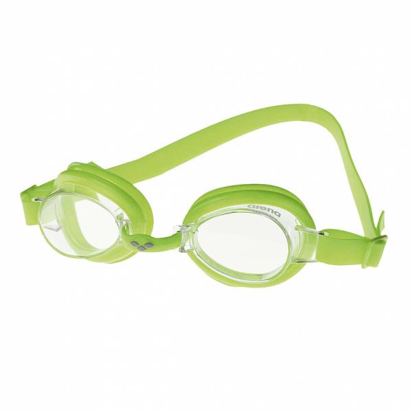 Arena Bubble 2 Junior  Swimming Goggles - Citronella with Clear Lens
