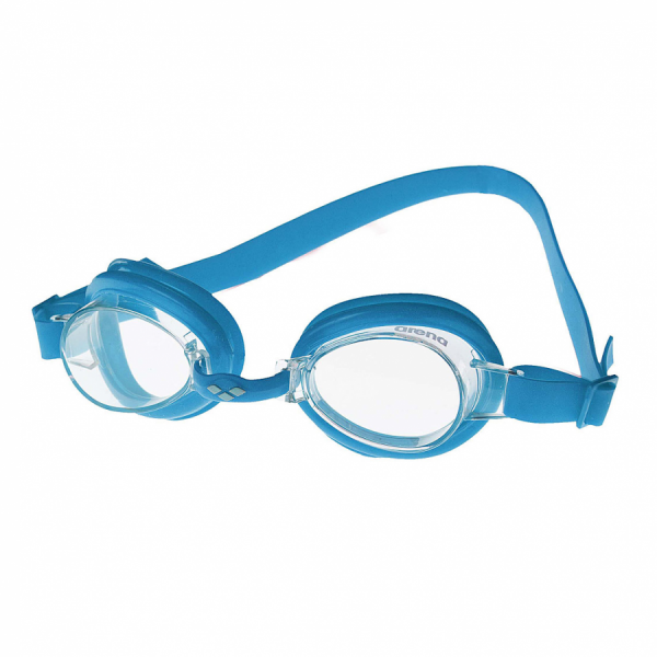Arena Bubble 2 Junior  Swimming Goggles - Blue with Clear Lens
