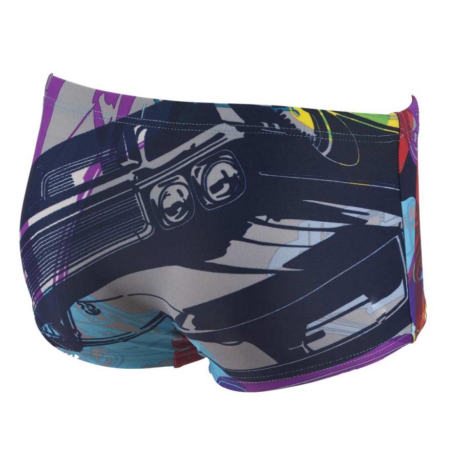 Arena Cars junior low waist navy blue swim shorts