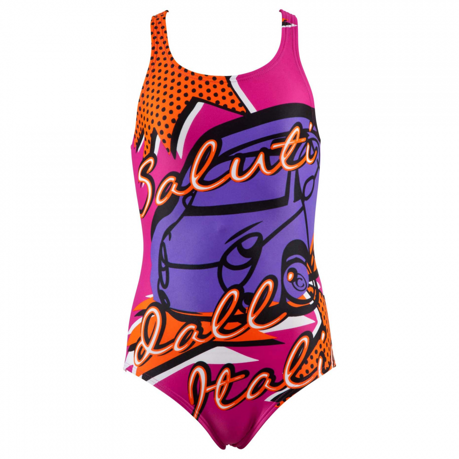 Buy girls pink swimsuit