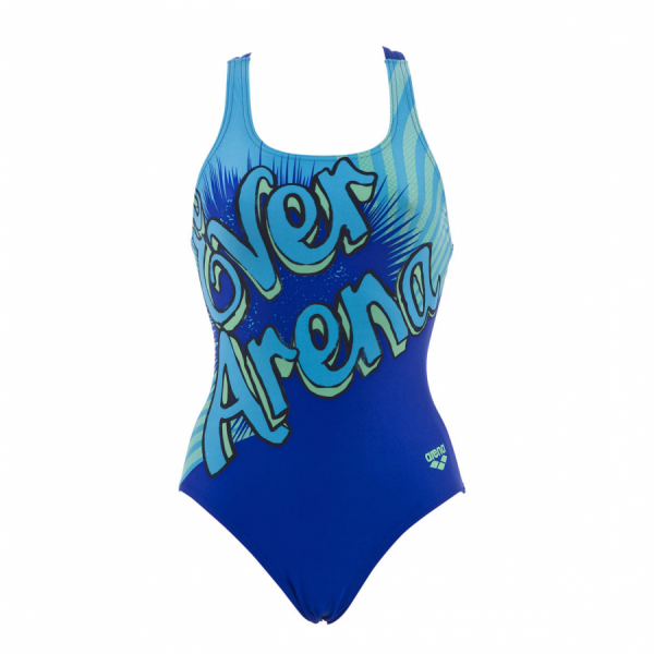 Arena Cartoon One Piece Swimsuit (Blue)