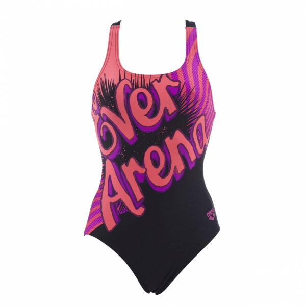 Arena Cartoon Girls Swimsuit (Black)