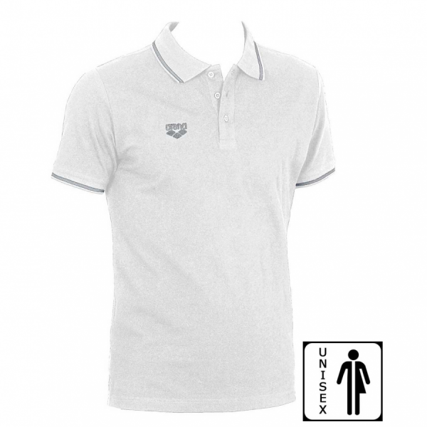 Unisex Arena Chassis Polo Shirt - White FRONT