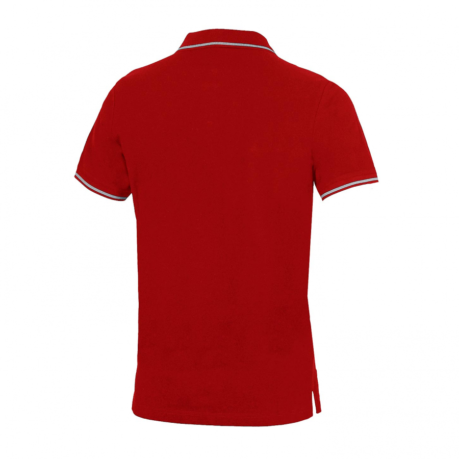 Unisex Arena Chassis Polo Shirt - Red BACK