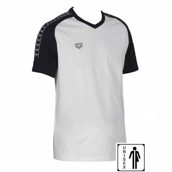 Unisex Arena Clamp T Shirt - White / Black