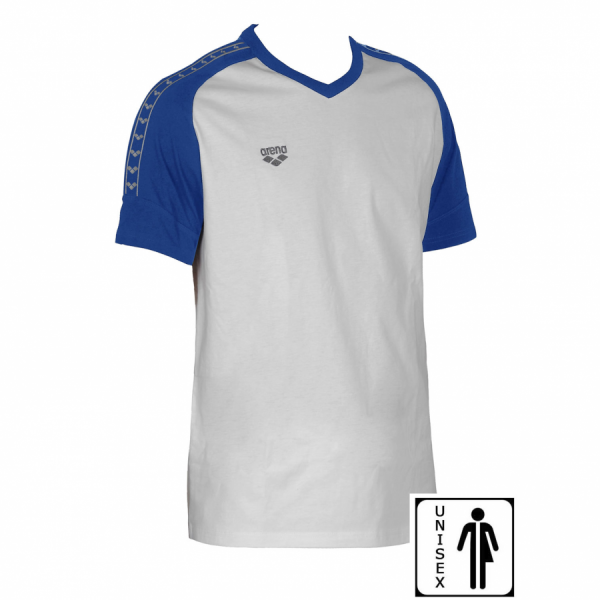 Unisex Arena Clamp T Shirt - White / Royal Blue