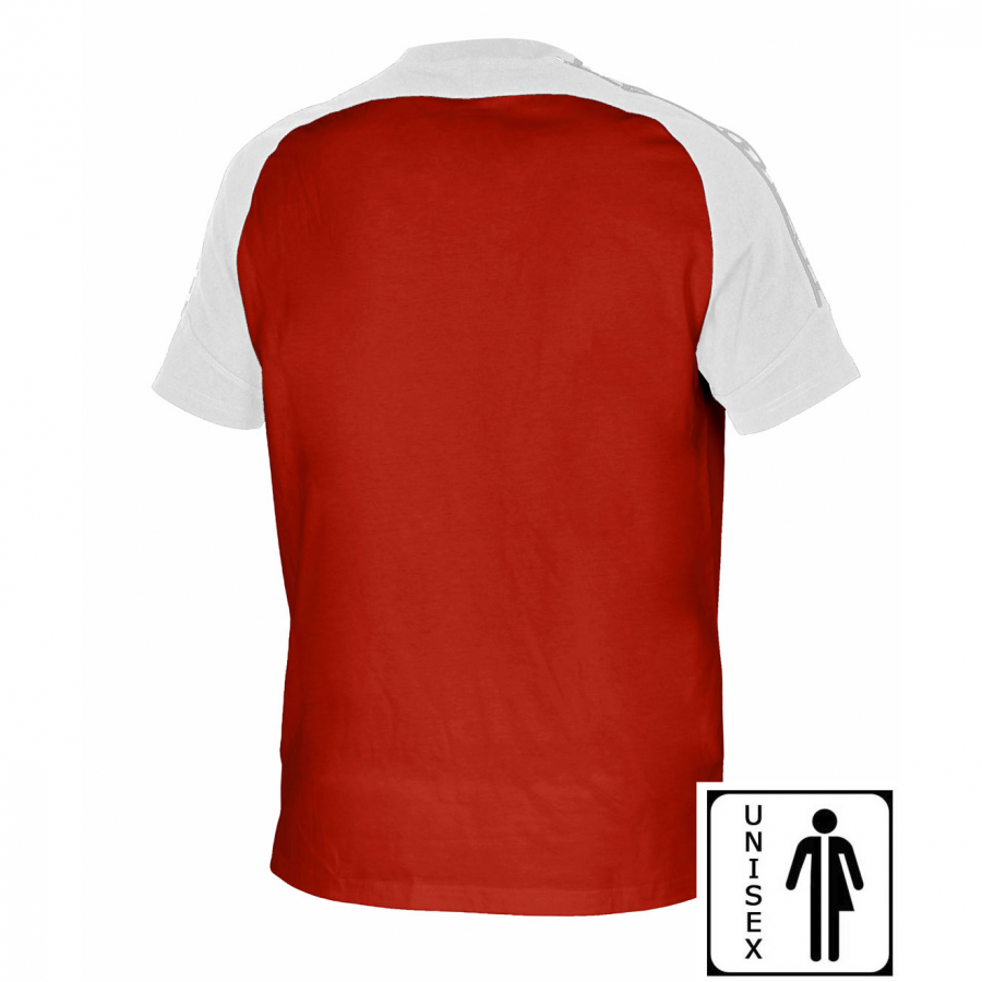 Unisex Arena Clamp T Shirt - Red / White