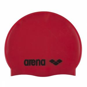 Arena Classic Silicone Swim Cap - red