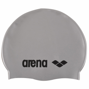 Arena Classic Silicone Swim Cap - Silver