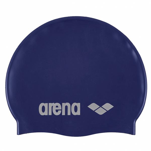 Arena Classic Silicone Swim Cap - Navy Blue