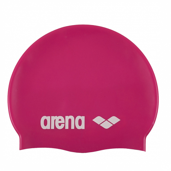 Arena Classic Silicone Swim Cap - Fuchsia