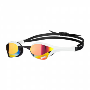 White Arena Cobra Ultra Mirror Racing Goggles