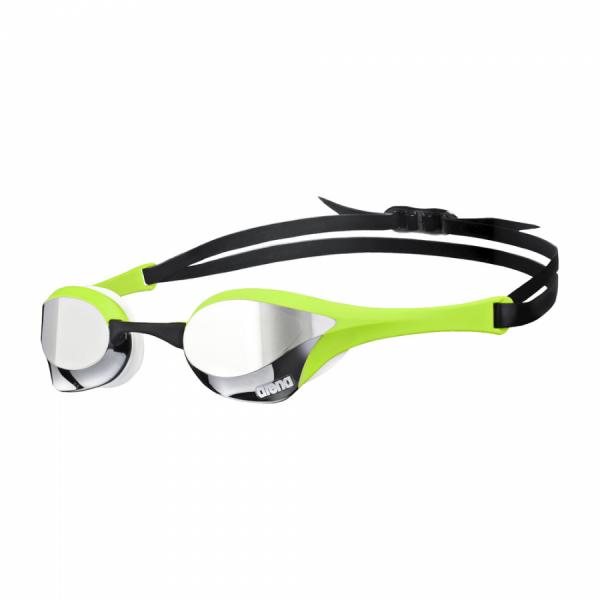 Green Silver Arena Cobra Ultra Mirror Racing Goggles