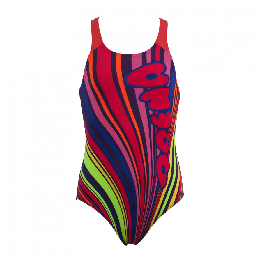 Arena Cookie Girls junior purple one piece  swimsuit