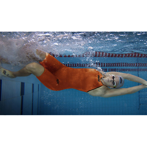 Arena Carbon Pro 2 Open Back Short Leg Suit - Orange