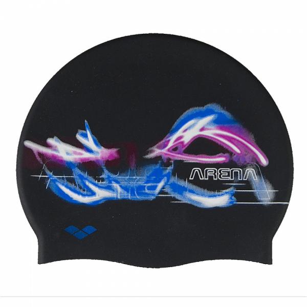 Arena Elite Print Swim Cap - Mouche