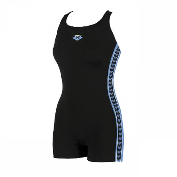Arena Ladies Legged Swimwear - Fadette (Black / Blue) Front