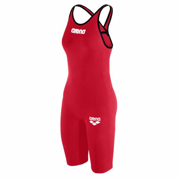 Arena Carbon Pro 2 Red Closed Back Short Leg Suit