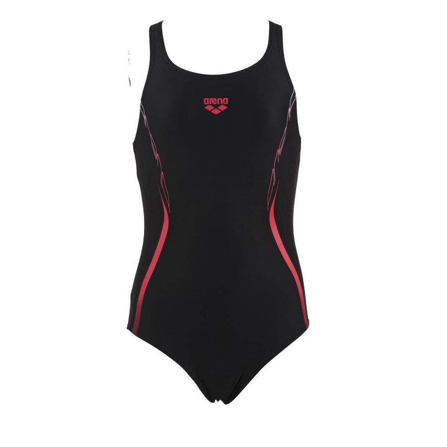 Arena Flex junior girls black one pece swim costume