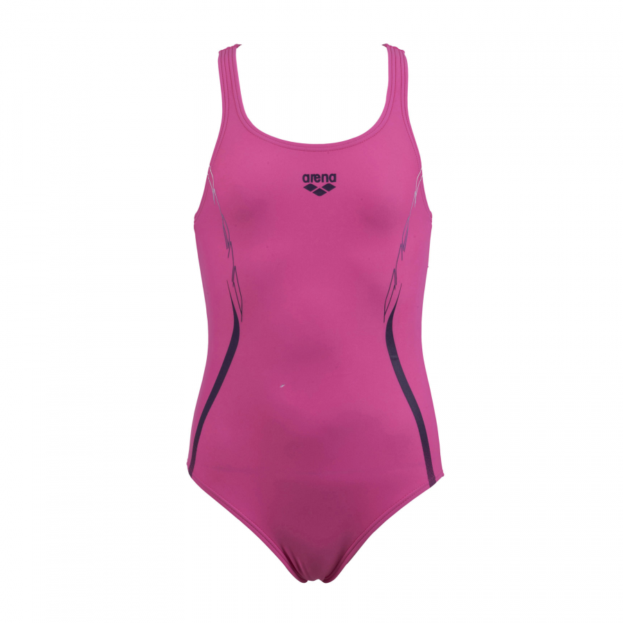 Arena Flex Girls Pink Swim Costume