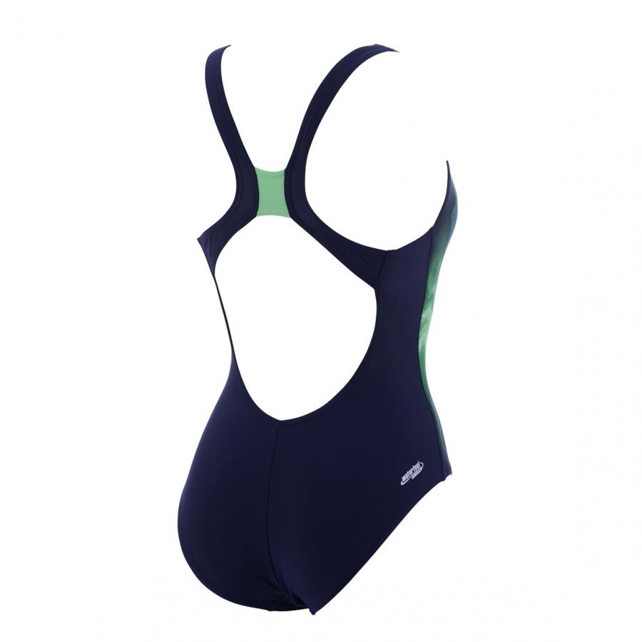 Arena Fluid Swimsuit - (Navy/Green)